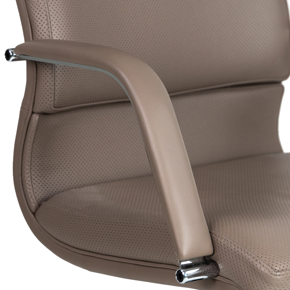 Fully Upholstered Chrome Arms